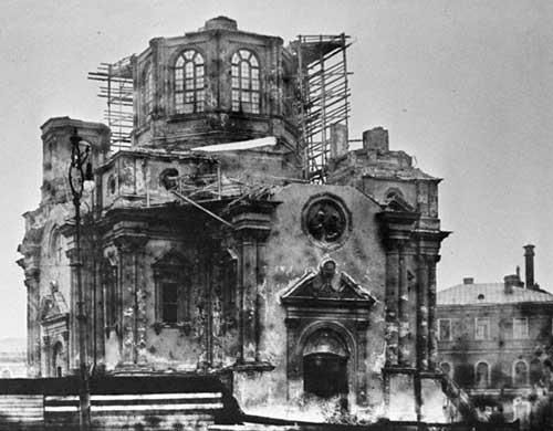 Demolished church