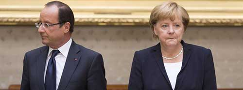 Hollande and Merkel