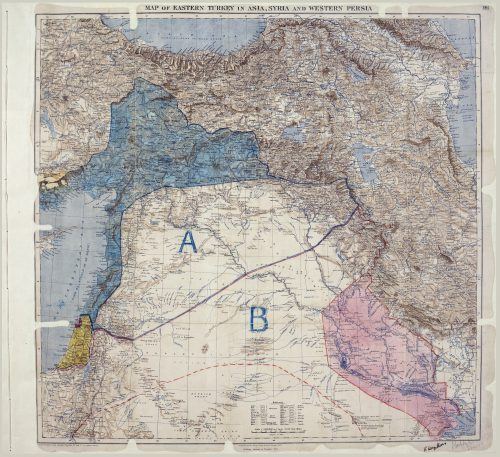 Original Sykes Picot Agreement, signed May 8, 1916