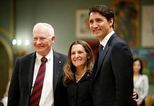 Johnston, Freeland and Trudeau